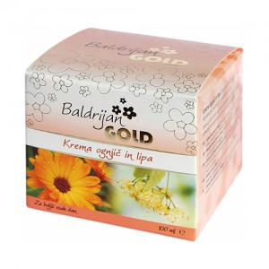 Baldrijan GOLD Krema ognjič in lipa (100 ml)